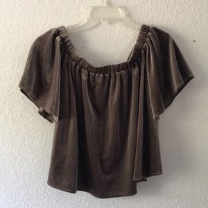 Anthropologie|Velvet Top